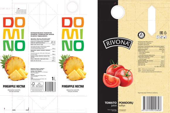 Sulčių gamybą iš koncentruotų vaisių ar daržovių sulčių su užsakovo prekės ženklu